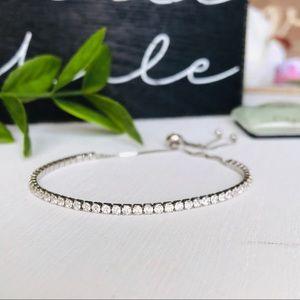 Cubic Zirconia Bracelet Sterling Silver